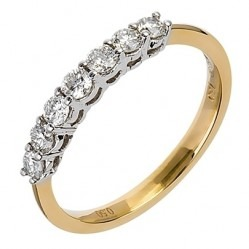 18ct Gold Seven Stone Diamond Half Eternity Ring 18DR199-2C N