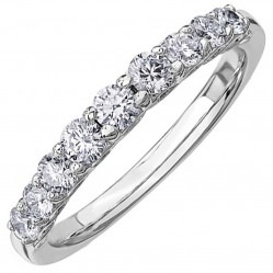 18ct White Gold 1.05ct Diamond Half Eternity Ring 50J45WG/105-18 O