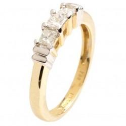 18ct Gold Diamond Trilogy Ring 18DR131-2C