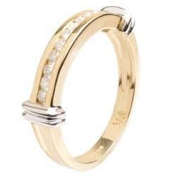 9ct Yellow Gold Diamond Half Eternity Ring 9DR100-2C