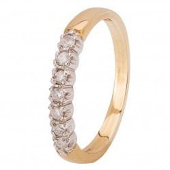 9ct Gold Seven Stone Half Eternity Ring 080-JR0399Y