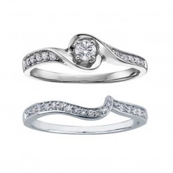 9ct White Gold Twist Diamond Bridal Set 3670WDWG-WG