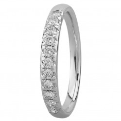 9ct White Gold 0.33ct Diamond Pave Set Half Eternity Ring SKR15238-33TP