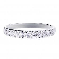 9ct White Gold 0.33ct Diamond Half Eternity Ring SKR15238-33