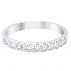 9ct White Gold .25ct Diamond Half Eternity Ring SKR15238-25