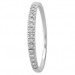 9ct White Gold 0.15ct Diamond Pave Set Half Eternity Ring SKR15238-15TP