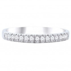 9ct White Gold Diamond Half Eternity Ring SKR15238-15