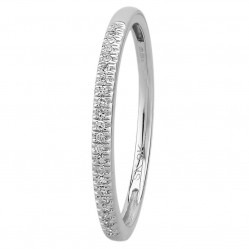 9ct White Gold 0.08ct Diamond Pave Set Half Eternity Ring SKR15238-08