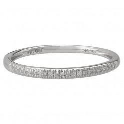9ct White Gold .08ct Diamond Half Eternity Ring SKR15238-08
