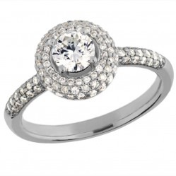 Arctic Circle Diamonds 18ct White Gold Round Brilliant Diamond Cluster Ring UKR11027