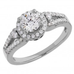 Arctic Circle Diamonds 18ct White Gold Round Brilliant Diamond Cluster Ring UKR11008/100