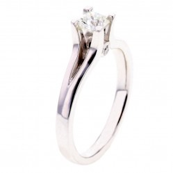 Arctic Circle Diamonds 18ct White Gold 0.40ct Ideal Square Solitaire Diamond Ring UKR1081640