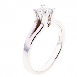 Arctic Circle Diamonds 18ct White Gold 0.50ct Ideal Square Solitaire Diamond Ring UKR1081650