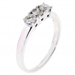 Arctic Circle Diamonds 18ct White Gold 0.50ct Diamond Trilogy Ring UKR1082250