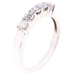 Arctic Circle Diamonds 18ct White Gold 0.50ct Diamond Five Stone Ring UKR1082650