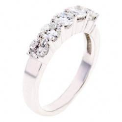 Arctic Circle Diamonds 18ct White Gold 1.00ct Diamond Five Stone Ring UKR10826100