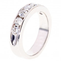 Arctic Circle Diamonds 18ct White Gold 0.97ct Diamond Channel Set Seven Stone Ring UKR10827100