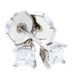 Arctic Circle Diamonds 18ct White Gold 0.40ct Diamond Princess Cut Studs UKE234940