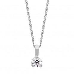 Arctic Circle Diamonds 18ct White Gold 0.30ct Three Claw Solitaire Diamond Pendant UKP3174/30