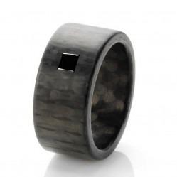 C6 by Anne Cohen Mens Black Princess 8mm Diamond Ring C6PRB-08-11-62