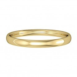 9ct Gold 2mm Court Wedding Ring R43A M