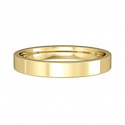9ct Gold 3mm Satin Polished Court Wedding Ring R440+FINISH L