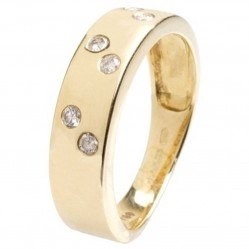 18ct Yellow Gold Diamond Set Band Ring 18DR169-Y