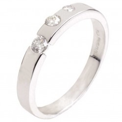 18ct White Gold Three Stone Diamond Wedding Ring 18DR171-W