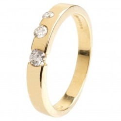 18ct Gold Diamond Set Wedding Band 18DR171-Y