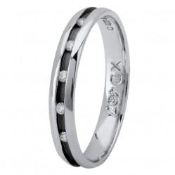 Platinum 3mm Flat Channel-set Diamond Wedding Ring XD467 PLT  M