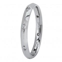 Palladium 2mm Knife-Edge Diamond-set Wedding Ring XD789 PD N