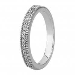 Mastercut Vintage 18ct White Gold Diamond Half Eternity Ring C6RG010W
