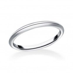 Mastercut Simplicity 18ct White Gold Knife Edge Wedding Ring C5RG009W