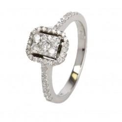 9ct White Gold Oblong Diamond Cluster Ring SKR15209-50