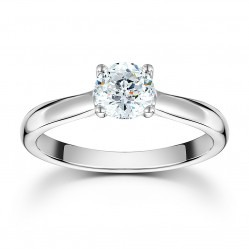 Mastercut Starlight 18ct White Gold 0.25ct Solitaire Diamond Ring C10RG001 025W