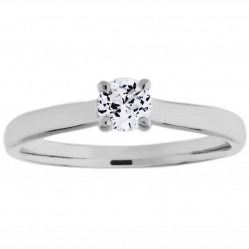 Mastercut Elegance 18ct White Gold 0.25ct Solitaire Diamond Ring C11RG001 025W