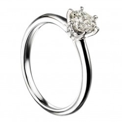 Mastercut Simplicity Six Claw 18ct White Gold 0.30ct Solitaire Diamond Ring C12RG001 030W
