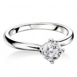 Mastercut Grace 18ct White Gold 0.20ct Solitaire Diamond Twist Ring C13RG001 020W