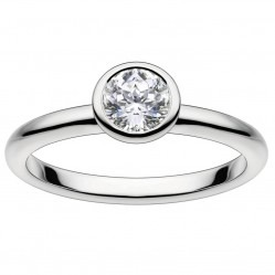Mastercut Contemporary 18ct White Gold 0.20ct Bezel Set Solitaire Diamond Ring C2RG002 020W