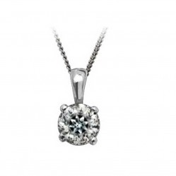 Mastercut Simplicity Four Claw 18ct White Gold 0.25ct Diamond Necklace C5PE001 025W