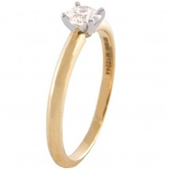 Mastercut Simplicity Four Claw 18ct Two Colour Gold 0.50ct Solitaire Diamond Ring C5RG001 050T