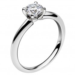 Mastercut Simplicity Four Claw 18ct White Gold 0.50ct Solitaire Diamond Ring C5RG001 050W