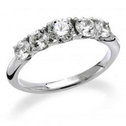 Mastercut Simplicity Four Claw 18ct White Gold 0.75ct Five Stone Diamond Ring C5RG003 075W