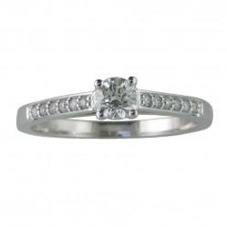 18ct White Gold 0.56ct Certificated Diamond Solitaire Ring 3084WG/56-18 M