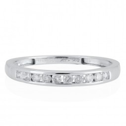 14ct White Gold Channel Set Half Eternity Ring SKR20962-20 M