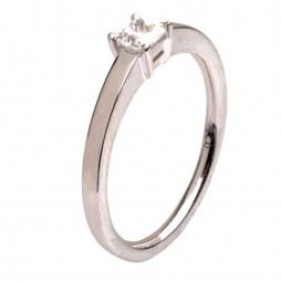 18ct White Gold Single Stone 0.27ct Diamond Ring 18DR425-W