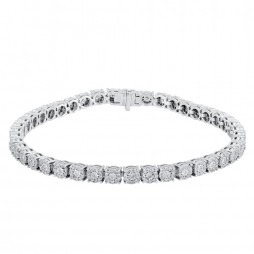 14ct White Gold 2.25ct Diamond Tennis Bracelet SKB14665