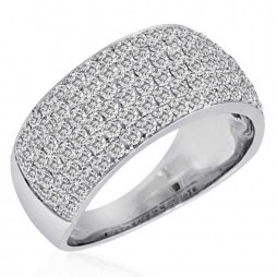 9ct White Gold Pave 2.00ct Ring SKR2910-200 9K