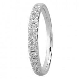 9ct White Gold 0.25ct Diamond Pave Set Half Eternity Ring SKR15238-25TP