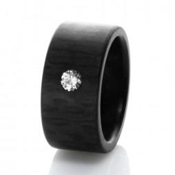 C6 by Anne Cohen Ladies Elemental Wide 8mm Diamond Ring C6EL-08-08-57